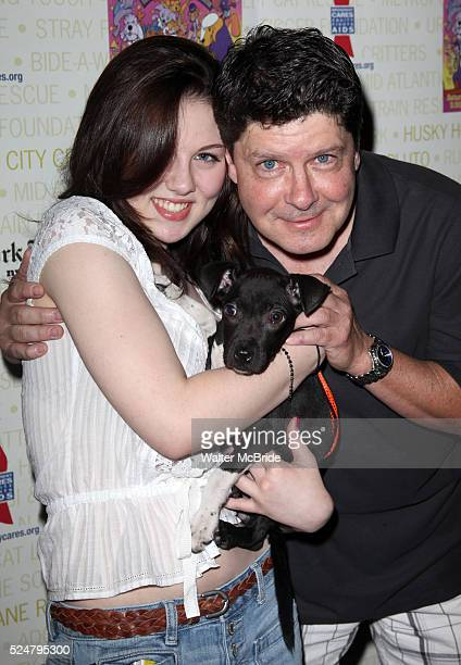 Michael McGrath daughter Backstage at Broadway Barks Lucky 13th Annual Adoptathon in New York City