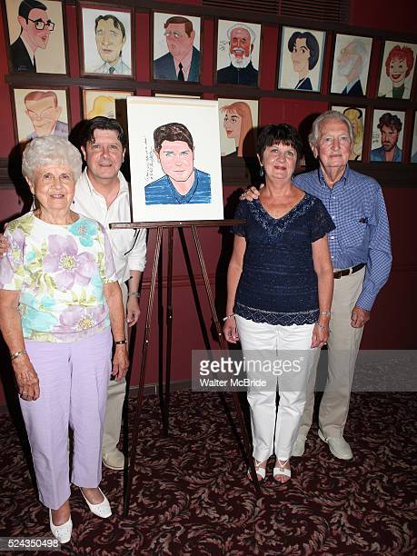 Michael McGrath Family attending the unveiling of the Sardi's caricature for the Tony Awardwinning star of 'Nice Work If You Can Get It' Michael...