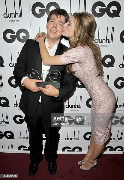 Michael Mcintyre and Kelly Brook attend the 2009 GQ Men Of The Year Awards at The Royal Opera House on September 8, 2009 in London, England.