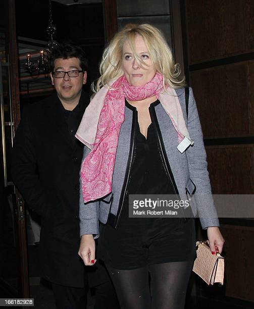 Michael McIntyre and Kitty McIntyre at The Delaunay restaurant on April 9 2013 in London England