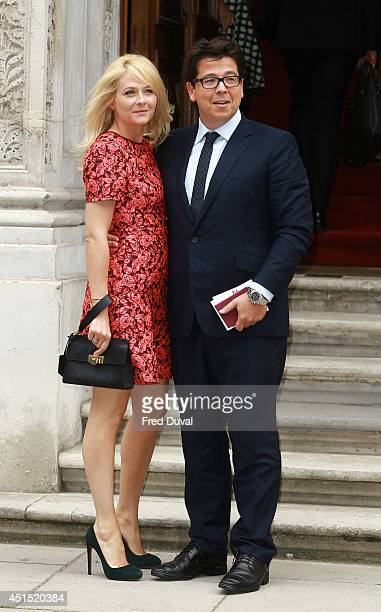 Michael Mcintyre and Kitty Mcintyre attend a reception for the Best of Britain's Creative Industries at The Foreign Office on June 30 2014 in London...