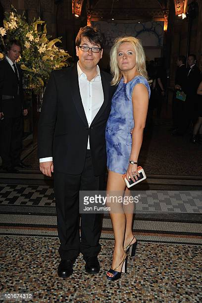 Michael McIntyre and Kitty McIntyre attend the Philips British Academy Television Awards after party at the Natural History Museum on June 6 2010 in...