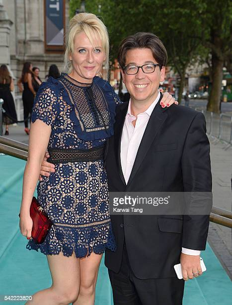 Michael McIntyre and wife Kitty arrive for the VA Summer Party at Victoria and Albert Museum on June 22 2016 in London England