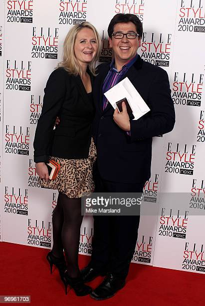 Michael McIntyre and wife Kitty arrives for the ELLE Style Awards 2010 at the Grand Connaught Rooms on February 22 2010 in London England