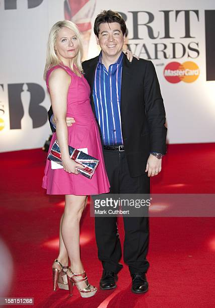Michael Mcintyre And Wife Kitty Arriving For The 2011 Brit Awards At The O2 Arena London
