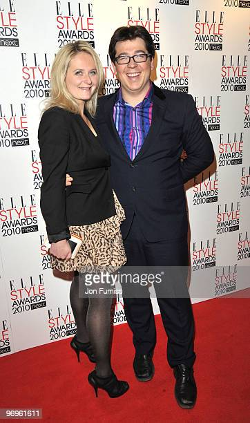 Michael Mcintyre and wife Kitty Mcintyre attend the ELLE Style Awards at Grand Connaught Rooms on February 22 2010 in London England