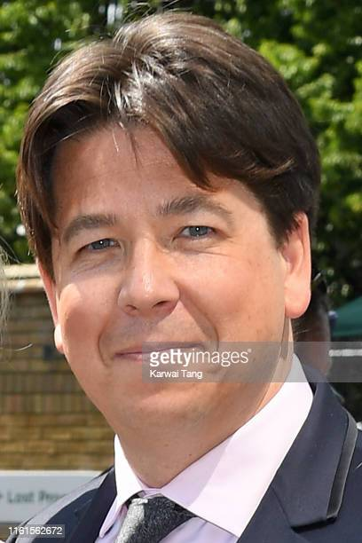 Michael McIntyre attends day eleven of the Wimbledon Tennis Championships at All England Lawn Tennis and Croquet Club on July 12, 2019 in London,...