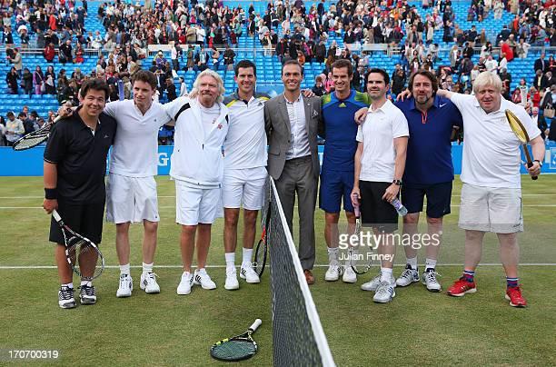 Michael McIntyre, Eddie Redmayne, Sir Richard Branson, Tim Henman, Ross Hutchins, Andy Murray, Jimmy Carr, Jonathan Ross and London Mayor Boris...