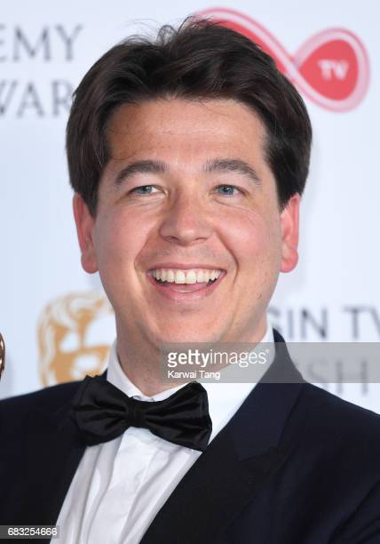 Michael McIntyre poses in the Winner's room at the Virgin TV BAFTA Television Awards at The Royal Festival Hall on May 14, 2017 in London, England.