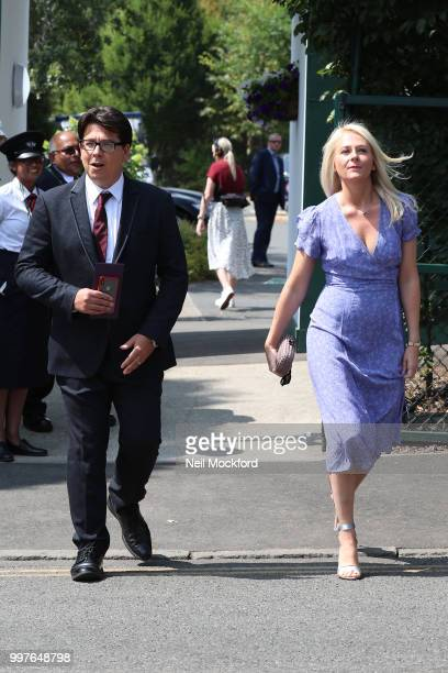 Michael McIntyre seen arriving at Wimbledon for Men's Semi Final Day on July 12 2018 in London England