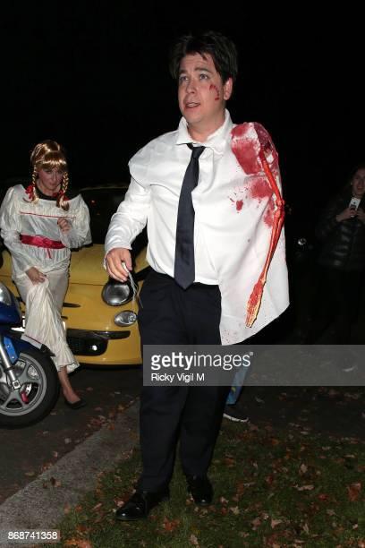 Michael McIntyre seen attending Jonathan Ross Halloween party on October 31 2017 in London England