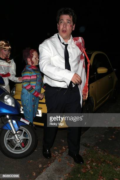 Michael McIntyre seen attending Jonathan Ross Halloween party on October 31 2017 in London England