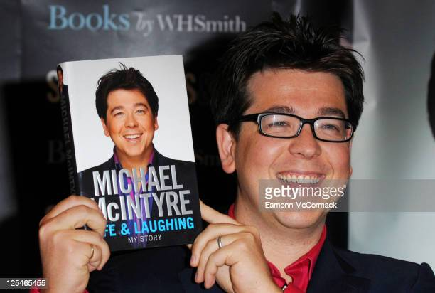Michael McIntyre signs his new autobiography 'Life and Laughing' at Selfridges on October 14, 2010 in London, England.