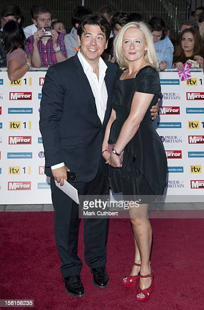 Michael Mcintyre With Wife Kitty Arriving For The Pride Of Britain Awards At The Grosvenor House Hotel London
