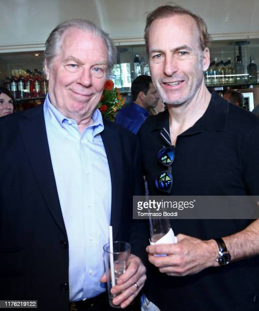Michael McKean and Bob Odenkirk attend AMC Emmy Brunch 2019 on September 21, 2019 in West Hollywood, California.
