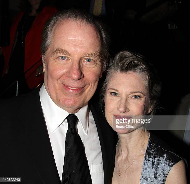 """Michael McKean and wife Annette O'Toole attend the Gore Vidal's """"The Best Man"""" Broadway Opening night party at Brasserie 81/2 on April 1, 2012 in New..."""