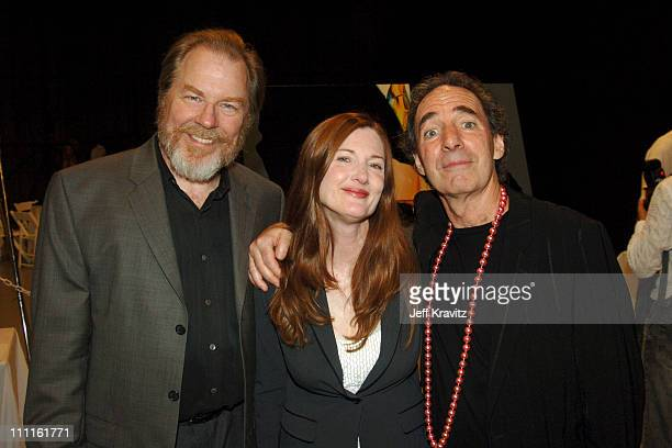 Michael McKean Annette O'Toole and Harry Shear during Support LA Benefit for Hurricane Katrina Relief at Barker Hanger in Santa Monica California...
