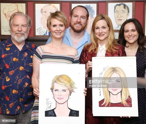 Michael McKean Cynthia Nixon Laura Linney and Francesca Carpanini attend the portrait unveilings of Laura Linney and Cynthia Nixon starring on...