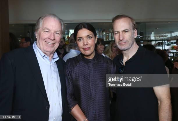 Michael McKean, Sarah Barnett and Bob Odenkirk attend AMC Emmy Brunch 2019 on September 21, 2019 in West Hollywood, California.