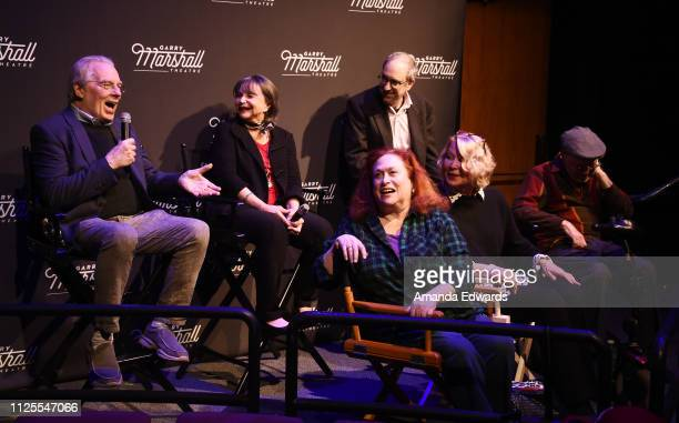 Michael McKeon Cindy Williams Carole Ita White Lowell Ganz Leslie Easterbrook and David L Lander attend the Laverne Shirley Marathon A Salute To...