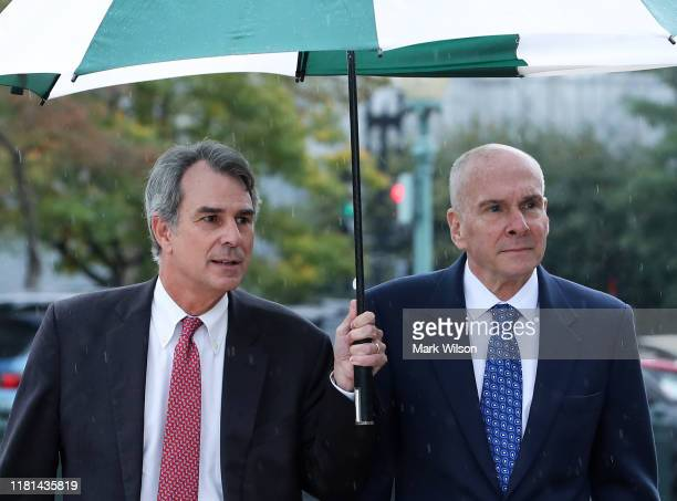 P Michael McKinley former senior adviser to Secretary of State Mike Pompeo arrives on Capitol Hill for a closed door hearing at the US Capitol...