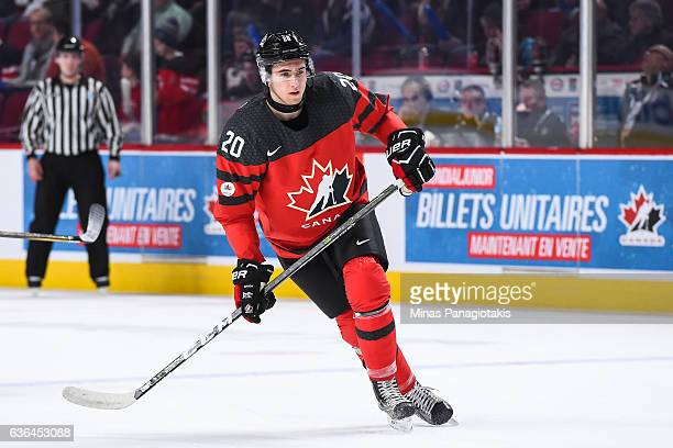 Michael McLeod of Team Canada skates during the IIHF exhibition game against Team Finland at the Bell Centre on December 19 2016 in Montreal Quebec...