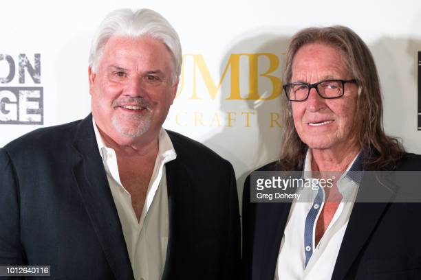 Michael McManus and George Jung attend George Jung's Birthday Celebration And Screening Of Blow at TCL Chinese 6 Theatres on August 6 2018 in...