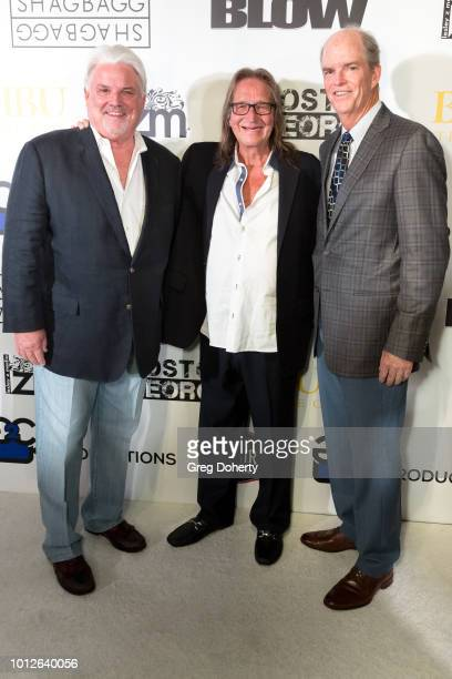 Michael McManus George Jung and Tom Titderington attend George Jung's Birthday Celebration And Screening Of Blow at TCL Chinese 6 Theatres on August...