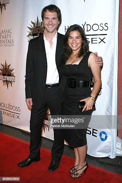 Michael Medico and America Ferrera attend The 2007 Hot in Hollywood Party Arrivals at The Henry Fonda Theatre on August 18 2007 in Hollywood CA