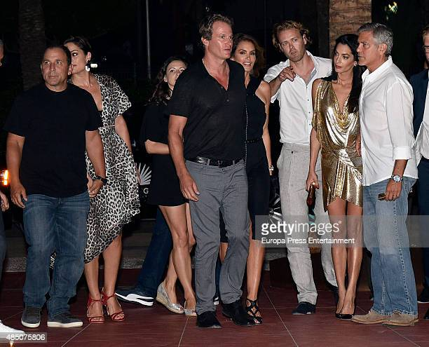 Michael Meldman, Monica Gambee, Rande Gerber, Cindy Crawford, guest, Amal Alamuddin and George Clooney attend the official launch of Casamigos...