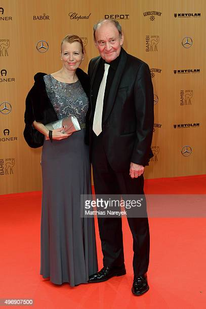 Michael Mendl and Caroline Fink attend the Bambi Awards 2015 at Stage Theater on November 12 2015 in Berlin Germany