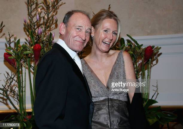 Michael Mendl and Caroline Link attend the Berlin Filmball on day eight of the 58th Berlinale Film Festival at the Berlinale Palast on February 14...