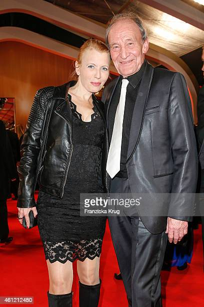 Michael Mendl and Gesine Friedmann arrive at the Bambi Awards 2014 on November 13 2014 in Berlin Germany