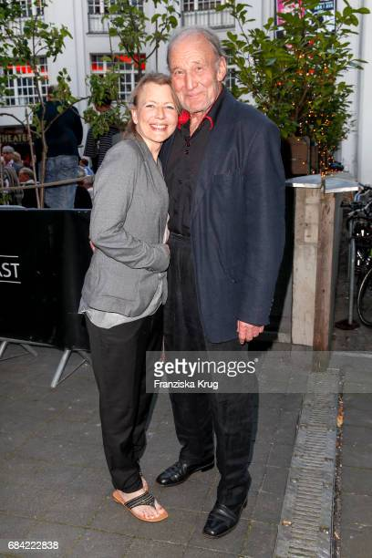 Michael Mendl and his girlfriend Gesine Friedmann attend the 'The Addams Family' musical premiere at Admiralspalast on May 17 2017 in Berlin Germany