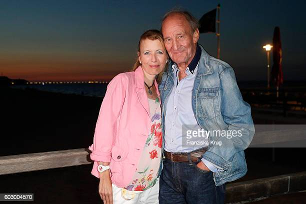 Michael Mendl and his girlfriend Gesine Friedmann attend the Till Demtroders CharityEvent 'Usedom Cross Country' on September 10 2016 near...