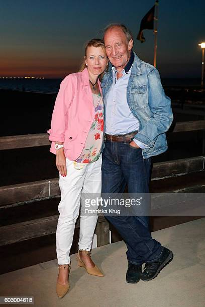 Michael Mendl and his girlfriend Gesine Friedmann attend the Till Demtroders CharityEvent 'Usedom Cross Country' on September 10 2016 near...