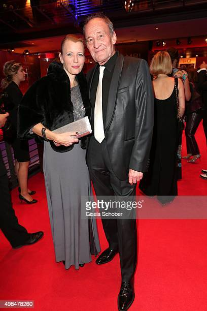 Michael Mendl and his partner Gesine Friedmann during the Bambi Awards 2015 at Stage Theater on November 12 2015 in Berlin Germany