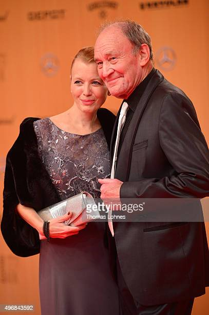 Michael Mendl and his wife Gesine Friedmann attend the Bambi Awards 2015 at Stage Theater on November 12 2015 in Berlin Germany