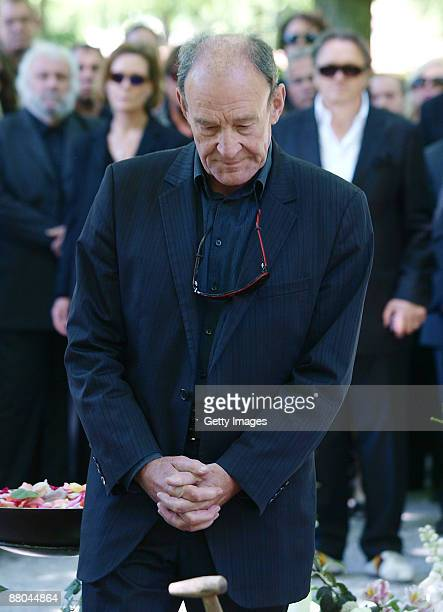 Michael Mendl attends the funeral of German actress Barbara Rudnik at Nordfriedhof cemetery on May 29 2009 in Munich Germany