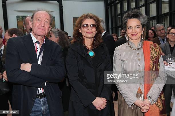 Michael Mendl Gabriele Scharnitzky and Irina Wanka attend the FilmFernsehFonds Bayern reception at Bayerische Landesvertretung on February 13 2014 in...