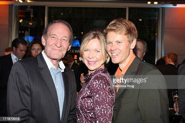 Michael Mendl with Berthold Manns girlfriend Marion Kracht And Germany at the Premiere Of BMW 5 Series Gran Turismo in Berlin