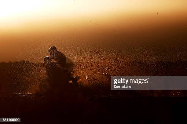 Michael Metge of France and Honda HRC rides a CRF450Rally Honda bike in the Elite ASO during stage eight of the 2017 Dakar Rally between Uyuni...