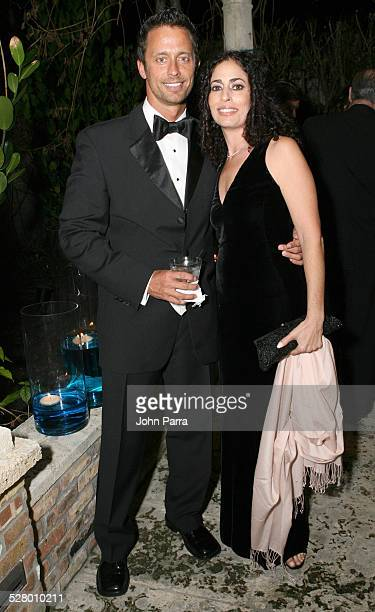 Michael Miarecki and Corina Biton during A Winter Wonderland to Celebrate Harry Winston's New Salon in Honor of the American Red Cross Greater Miami...