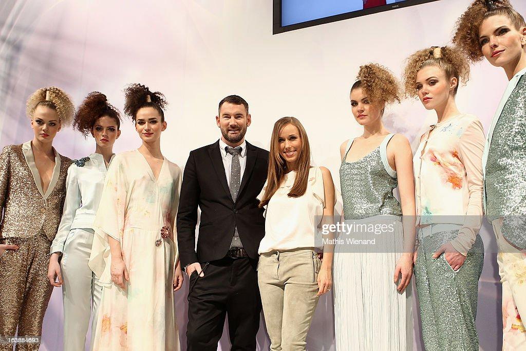 Michael Michalsky and Annemarie Warnkross attends the Top Hair International Beauty Fair on March 17, 2013 in Dusseldorf, Germany.