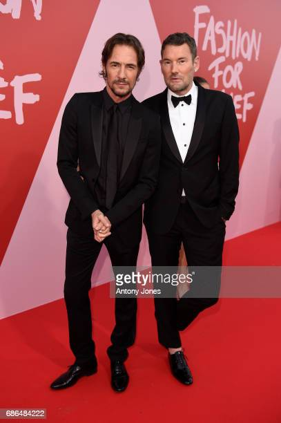 Michael Michalsky and Thomas Hayo attend the Fashion for Relief event during the 70th annual Cannes Film Festival at Aeroport Cannes Mandelieu on May...