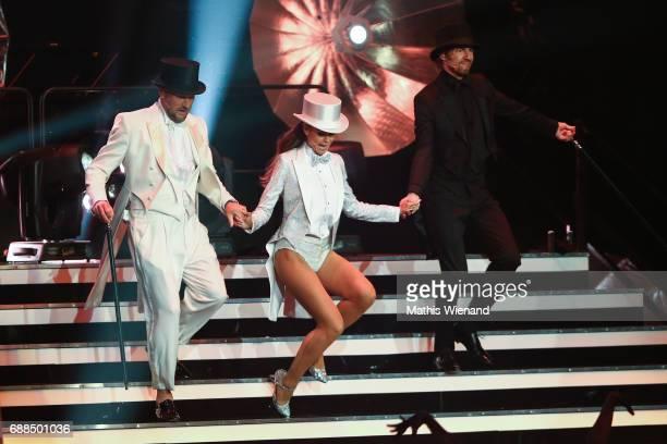 Michael Michalsky Heidi Klum and Thomas Hayo attend the Germany's Next Topmodel Final at KoenigPilsenerARENA on May 25 2017 in Oberhausen Germany