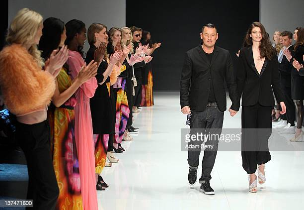 Michael Michalsky walks the runway after his fashion show at the Michalsky StyleNite during MercedesBenz Fashion Week Berlin at Tempodrom on January...