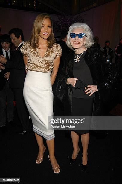 Michael Michele and Anne Slater attend SWAROVSKI hosts a party to present their POETIC NIGHT Collection at The Rink at Rockefeller Center on May 3...