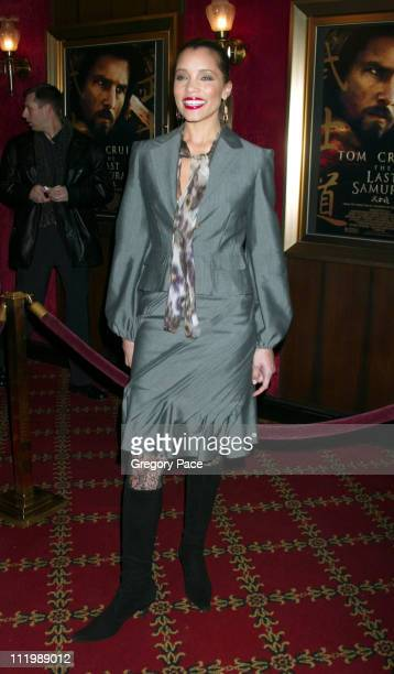 """Michael Michele during """"The Last Samurai"""" New York Premiere - Inside Arrivals at The Ziegfeld Theater in New York City, New York, United States."""