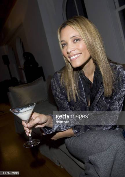 Michael Michele with her signature Godiva White Chocolate Martini